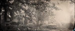 Freeman Vines' home, tintype