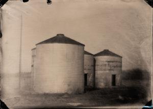 Corncribs, tintype