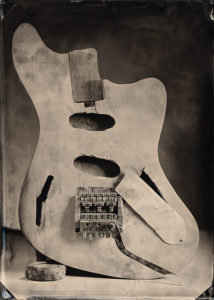 Duffy Supersonic guitar, tintype