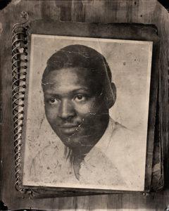 Freeman as a young man, tintype