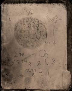 Freeman Vines sketch of hanging tree