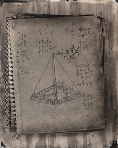 Numerlogical Pyramid (Freeman Vines Sketchbook, circa. 1980)